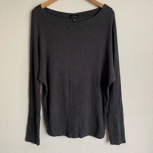 Lucky brand boat neck ribbed knit sweater